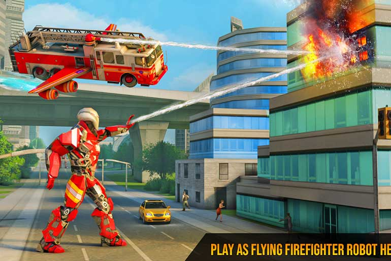 Flying-Firefighter-Truck-Transform-Robot-Games