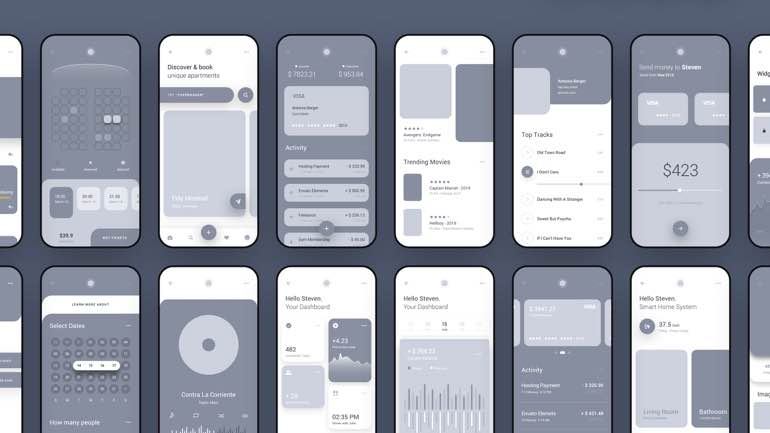 contoh wireframe