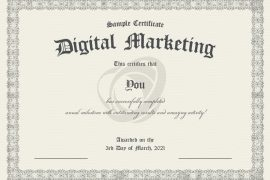 contoh sertifikat digital marketing